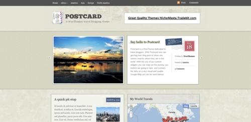 Product picture Premium Wordpress Theme Postcard