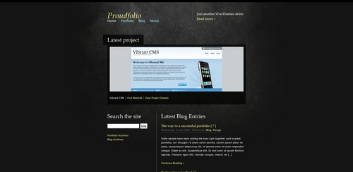 Product picture Premium Wordpress Theme Proud Folio